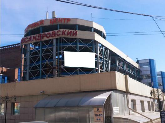 Реклама на ТЦ Александровский Новосибирск