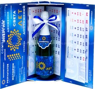 Упаковка для шампанского в виде календаря